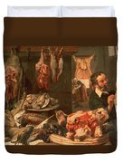 The Butcher's Shop Duvet Cover by Frans Snyders