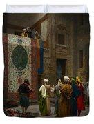 The Carpet Merchant Duvet Cover by Jean Leon Gerome