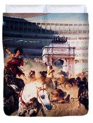 The Chariot Race 1882 Duvet Cover by Li   van Saathoff