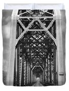The Chicago And North Western Railroad Bridge Duvet Cover by Mike McGlothlen