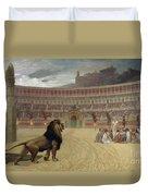 The Christian Martyrs Last Prayer Duvet Cover by Jean Leon Gerome