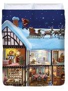Christmas House Duvet Cover by Steve Crisp