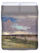 The Coming Storm Duvet Cover by Charles Francois Daubigny