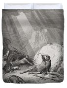 The Conversion Of St. Paul Duvet Cover by Gustave Dore