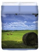 The Country House Hayfield Duvet Cover by Reid Callaway