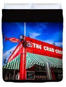 The Crab Cooker Newport Beach Photo Duvet Cover by Paul Velgos
