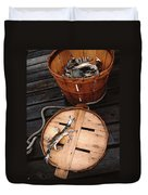 The Cranky Crab Duvet Cover by Skip Willits