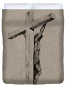 The Cross Duvet Cover by Derrick Higgins