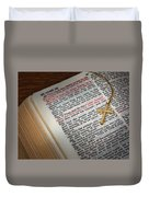 The Cross Of Jesus Duvet Cover by David and Carol Kelly