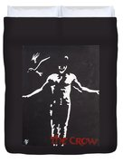The Crow Duvet Cover by Marisela Mungia
