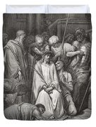 The Crown Of Thorns Duvet Cover by Gustave Dore