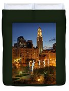 The Custom House Of Boston Duvet Cover by Juergen Roth