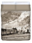 The D And S Pulls Into The Station Duvet Cover by Mike McGlothlen
