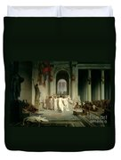 The Death Of Caesar Duvet Cover by Jean Leon Gerome