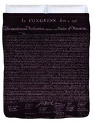 The Declaration Of Independence In Negative Pink Duvet Cover by Rob Hans