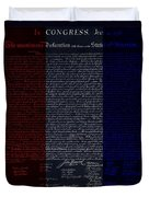 The Declaration Of Independence In Negative R W B Duvet Cover by Rob Hans