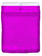 The Declaration Of Independence In Purple Duvet Cover by Rob Hans