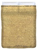 THE DECLARATION OF INDEPENDENCE in SEPIA Duvet Cover by ROB HANS