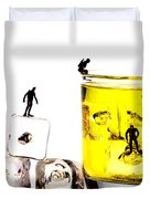 The diving little people on food Duvet Cover by Paul Ge