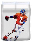 The Drive  John Elway Duvet Cover by Iconic Images Art Gallery David Pucciarelli