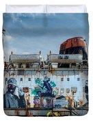 The Duke Of Graffiti Duvet Cover by Adrian Evans