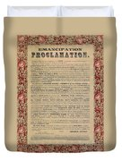 The Emancipation Proclamation Duvet Cover by American School