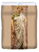 The End Of The Story Duvet Cover by Albert Joseph Moore