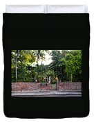 The Ernest Hemingway House - Key West Duvet Cover by Bill Cannon