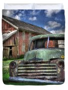 The Farm Truck Duvet Cover by Lori Deiter