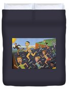The Finish Line Duvet Cover by James W Johnson