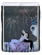 The Fire Duvet Cover by Georges Barbier