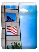 The Flag That Never Hides Duvet Cover by Rene Triay Photography