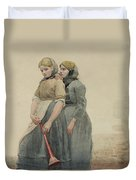 The Foghorn Duvet Cover by Winslow Homer