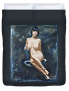 The French Model Duvet Cover by Sergey Ignatenko