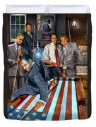 The Game Changers And Table Runners Duvet Cover by Reggie Duffie