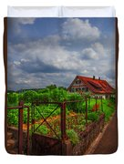 The Garden Gate Duvet Cover by Debra and Dave Vanderlaan