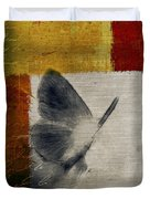The Giant Butterfly And The Moon - S09-22cbrt Duvet Cover by Variance Collections