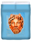 The God Jupiter Or Zeus.  Duvet Cover by Augusta Stylianou
