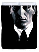 The Godfather Duvet Cover by Luis Ludzska