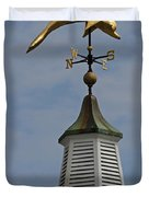 The Golden Dolphin Weathervane Duvet Cover by Juergen Roth