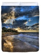 the golden hour during sunset at Israel Duvet Cover by Ronsho
