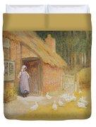 The Goose Girl Duvet Cover by Arthur Claude Strachan