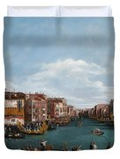 The Grand Canal at Venice Duvet Cover by Antonio Canaletto