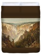 The Grand Canyon Of The Yellowstone Duvet Cover by Thomas Hill