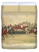 The Grand National Over The Water Duvet Cover by William Verner Longe