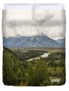 The Grand Tetons Over Snake River - Grand Teton National Park - Wyoming Duvet Cover by Brian Harig