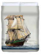 The Great Age Of Sail Duvet Cover by James Williamson