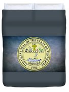 The Great Seal Of The State Of Tennessee Duvet Cover by Movie Poster Prints