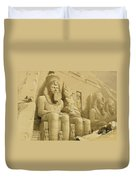 The Great Temple Of Abu Simbel Duvet Cover by David Roberts