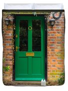 The Green Door Duvet Cover by Mark Llewellyn